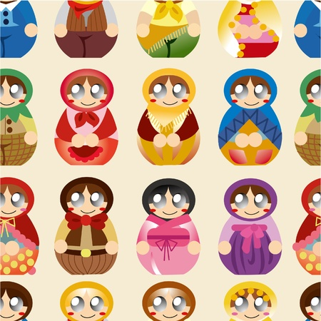 seamless Russian doll pattern Stock Vector - 9730605