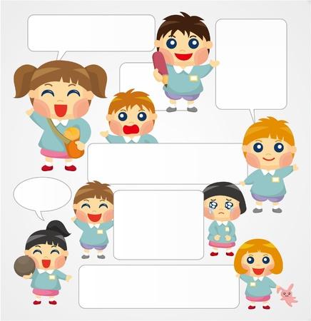 eye glass frame: cartoon kid card  Illustration