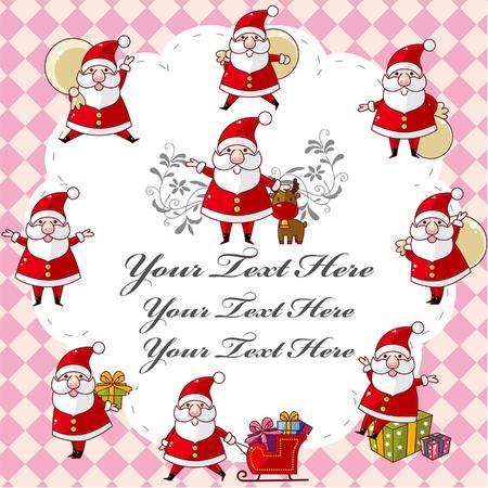 cute christmas card Stock Vector - 9730606