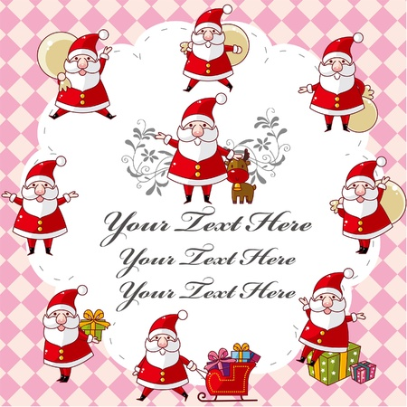Tarjeta de Navidad lindo Foto de archivo - 9730606