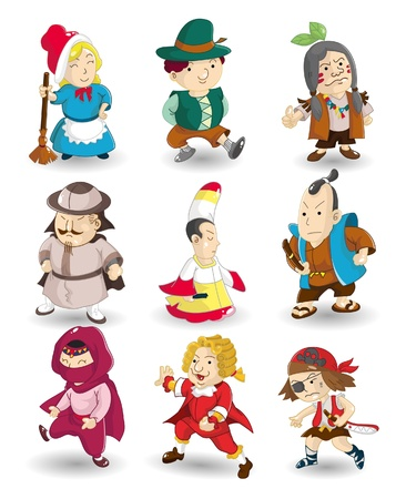 cartoon story people icon set Stock Vector - 9892746