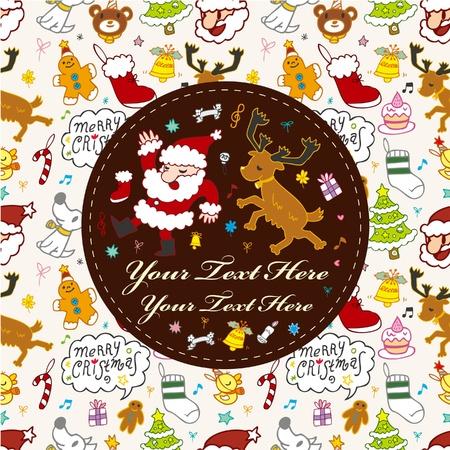 cute christmas card  Stock Vector - 9892737