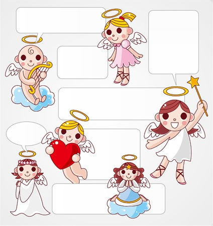 angel speech card Vector