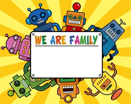 cartoon robot card Vector