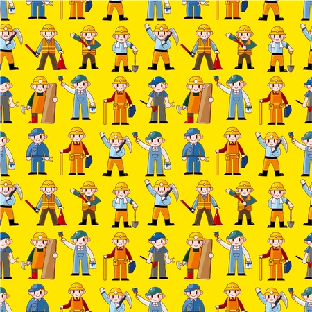 construction team: seamless worker pattern