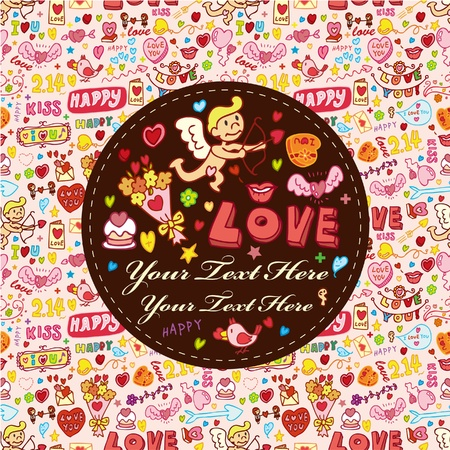 cartoon love element card Stock Vector - 9895456