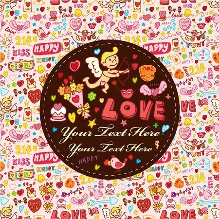 cartoon love element card Vector