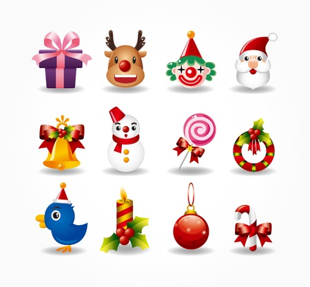 christmas icons set. Stock Vector - 9895675