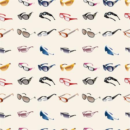 naadloze Glasses & zonnebril patroon Vector Illustratie