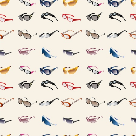 protective wear: seamless Glasses & Sunglasses pattern