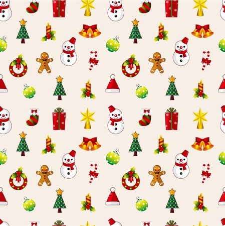 christmas music: seamless Christmas pattern