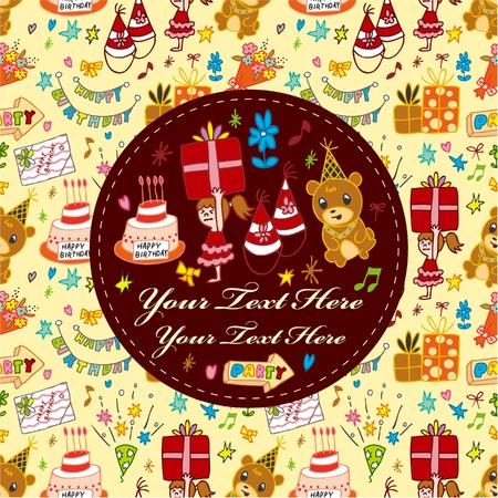 birthday card Stock Vector - 9829671