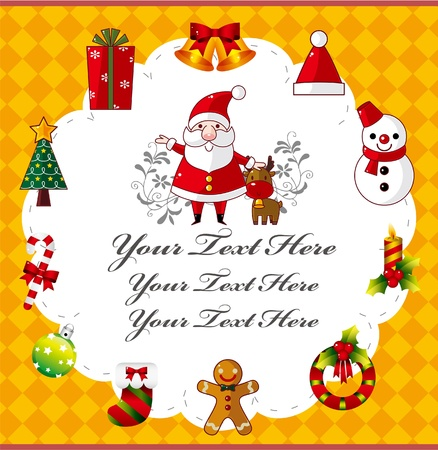 cute christmas card Stock Vector - 9829686