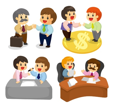 cartoon worker icon set Stock Vector - 9829694