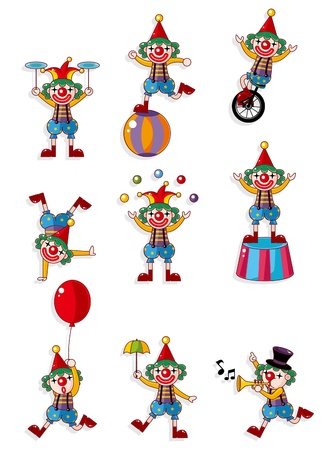 cartoon clown icon  Vector