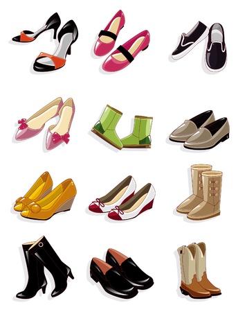 tienda de zapatos: icono de zapatos de dibujos animados