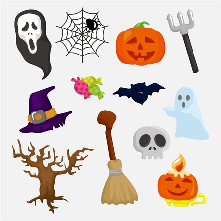helloween: Halloween icons set Illustration