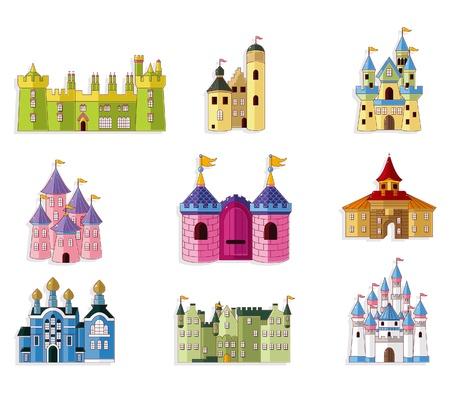bollwerk: Cartoon-M�rchen-Schloss-Symbol  Illustration