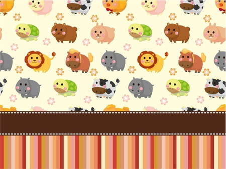 cute animal card Vector