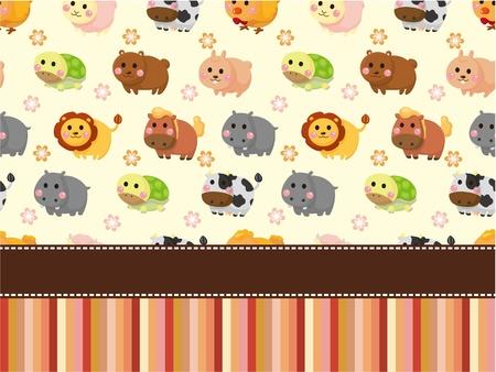cute animal card Vector