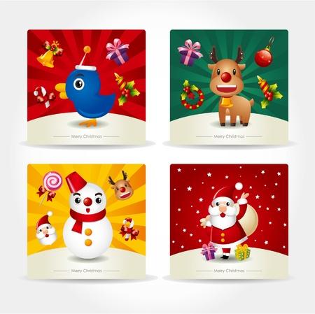 cute christmas card Stock Vector - 9935371