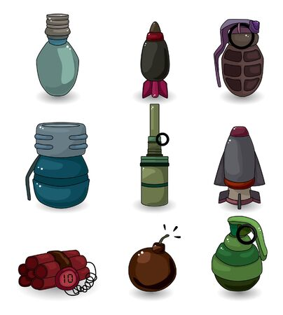 detonator: cartoon Explosive icon set