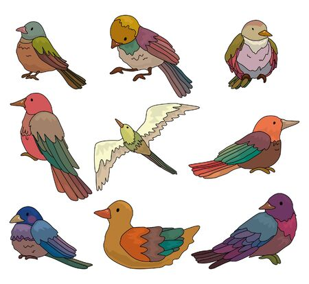 cartoon bird icon Stock Vector - 9935377