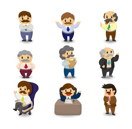 Conjunto de iconos de gerente y jefe de dibujos animados Foto de archivo - 9935225