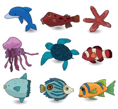 sunfish: cartoon fish icon  Illustration