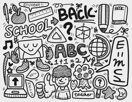 draws: doodle school  Illustration