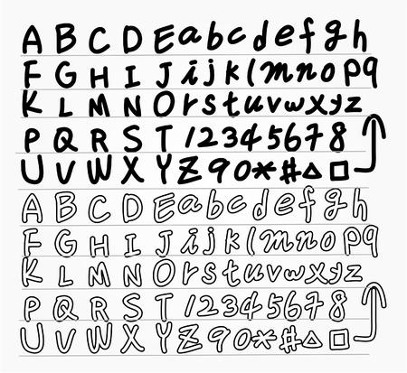 alfabeto graffiti: mano disegnare lettere elemento