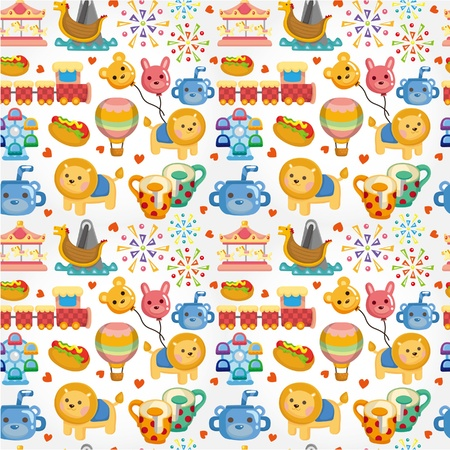 amusement: seamless playground pattern  Illustration