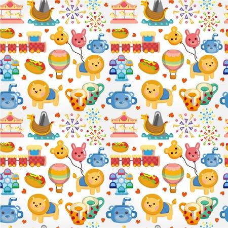 bear doll: seamless playground pattern  Illustration