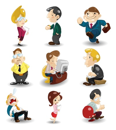 cartoon office workers icon  Vector