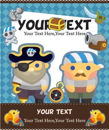 marinero: tarjeta pirata