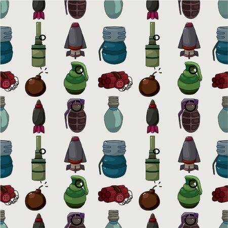 cartoon bomb seamless pattern Stock Vector - 9935309