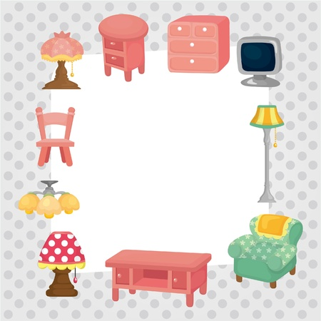 furniture card  Vector