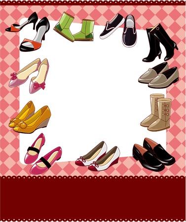 shoe sale: tarjeta de venta de calzado de moda Vectores