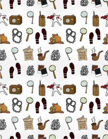 Cartoon detective equipment  seamless pattern Stock Vector - 10012232