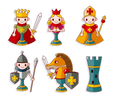 scacchi cartoon isolato