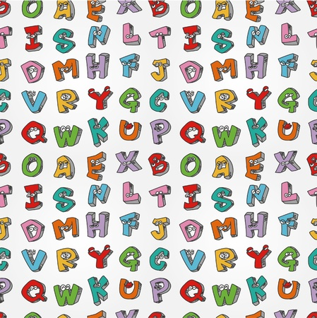 pattern monster: mostro lettere seamless pattern