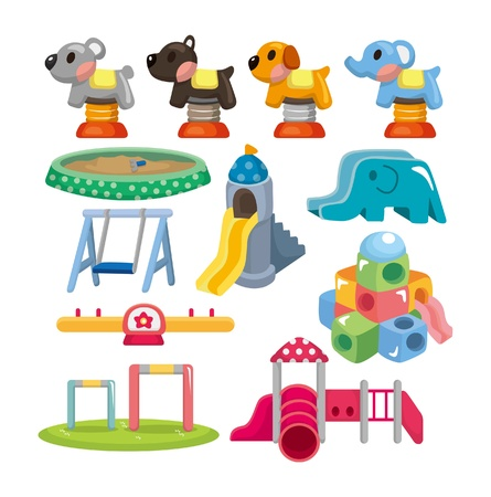 cartoon park playground icon  Vector