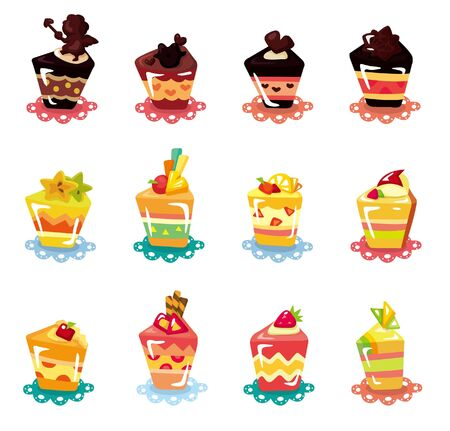 cartoon cup cake icon set Stock Vector - 10012285