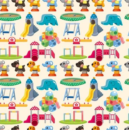 playground equipment: seamless park playground pattern  Illustration