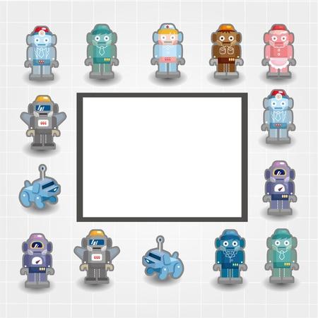 cartoon robot card Stock Vector - 10012286