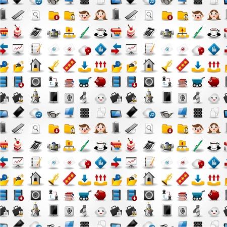 Patrón de iconos web transparente. Ilustración vectorial. Foto de archivo - 10046864