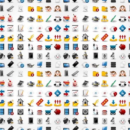 web icons communication: Seamless web icons pattern. Vector illustration.