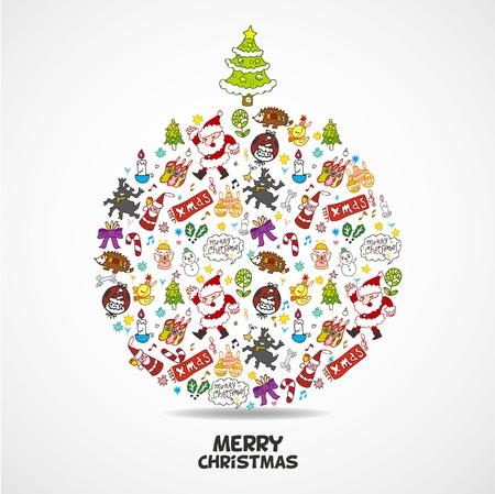 cute christmas card  Illustration