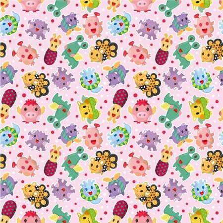 seamless monster pattern Stock Vector - 10046874