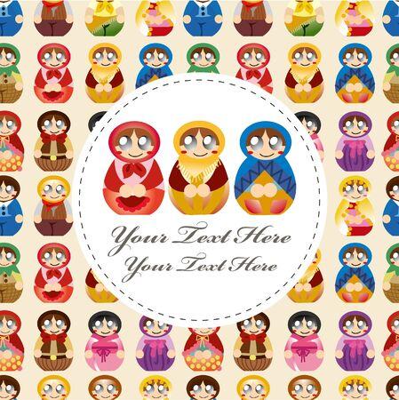 doll card Stock Vector - 10046872